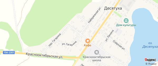 Советская улица на карте поселка Десятухи с номерами домов