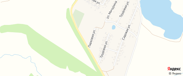 Парковая улица на карте поселка Десятухи с номерами домов