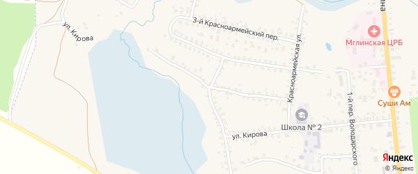 Улица Кирова на карте Мглина с номерами домов