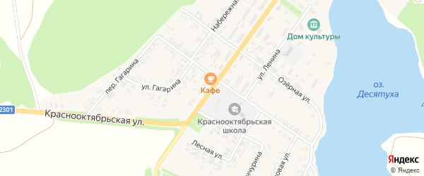 Краснооктябрьская улица на карте поселка Десятухи с номерами домов