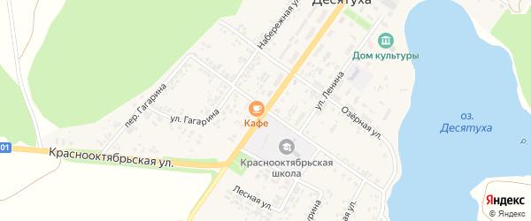 Площадь Ленина на карте поселка Десятухи с номерами домов