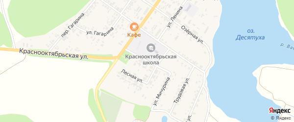 Майская улица на карте поселка Десятухи с номерами домов