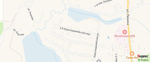 3-й Красноармейский переулок на карте Мглина с номерами домов