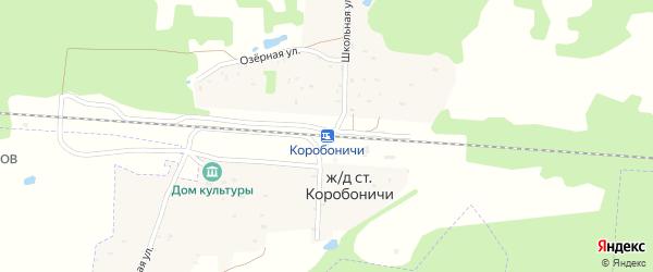 Территория сдт Коробоничское на карте железнодорожного разъезда Коробоничей с номерами домов