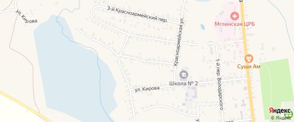 1-й Красноармейский переулок на карте Мглина с номерами домов