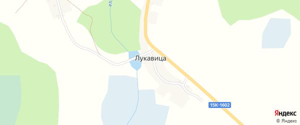 Речная улица на карте деревни Лукавицы с номерами домов