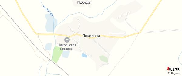 Карта села Яцковичей в Брянской области с улицами и номерами домов