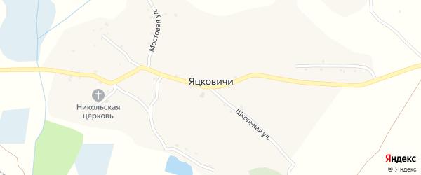 Заречный переулок на карте села Яцковичей с номерами домов