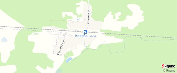 Карта железнодорожного разъезда Коробоничей в Брянской области с улицами и номерами домов