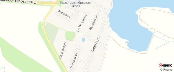 Трудовая улица на карте поселка Десятухи с номерами домов