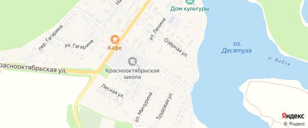 Школьная улица на карте поселка Десятухи с номерами домов