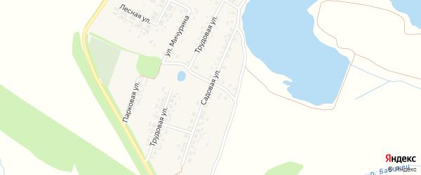 Садовая улица на карте поселка Десятухи с номерами домов