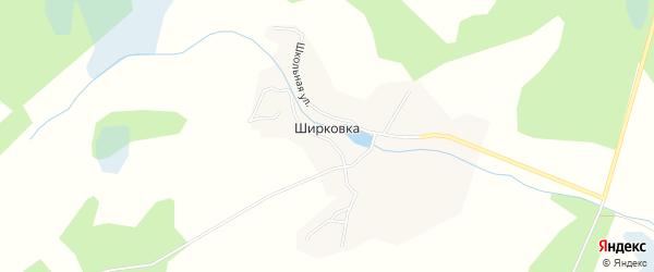 Карта деревни Ширковки в Брянской области с улицами и номерами домов