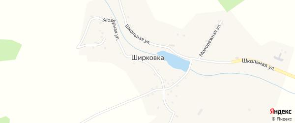 Лесной переулок на карте деревни Ширковки с номерами домов