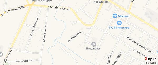 Улица Урицкого на карте Мглина с номерами домов