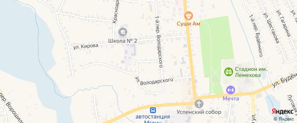 Переулок 3-й Володарского на карте Мглина с номерами домов
