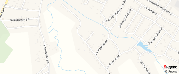 Улица Д.Бедного на карте Мглина с номерами домов