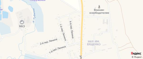Переулок 4-й Ленина на карте Мглина с номерами домов