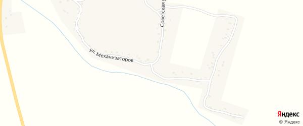Улица Механизаторов на карте деревни Быковки с номерами домов