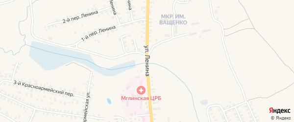 Улица Ленина на карте Мглина с номерами домов
