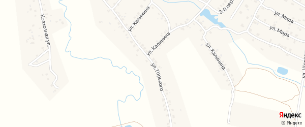 Улица М.Горького на карте Мглина с номерами домов