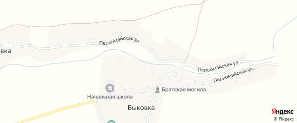 Первомайская улица на карте деревни Быковки с номерами домов