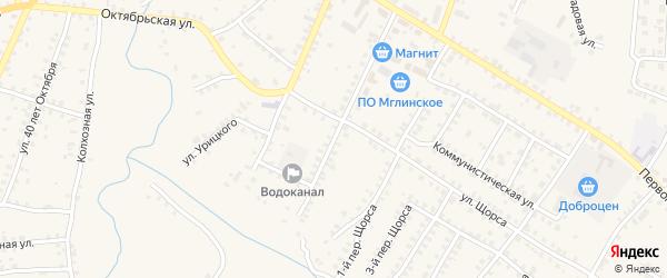 1-й Первомайский на карте Мглина с номерами домов