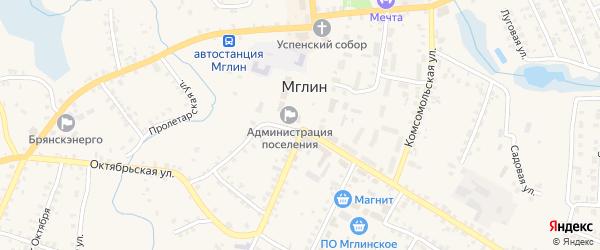 Советская площадь на карте Мглина с номерами домов