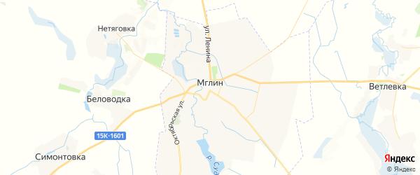 Карта Мглина с районами, улицами и номерами домов