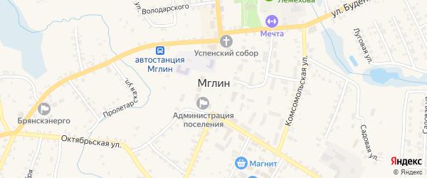 Территория Крахмальный завод на карте Мглина с номерами домов