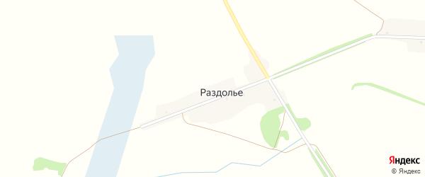 Садовая улица на карте поселка Раздолья с номерами домов