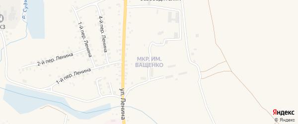 Микрорайон Имени А.Ващенко на карте Мглина с номерами домов