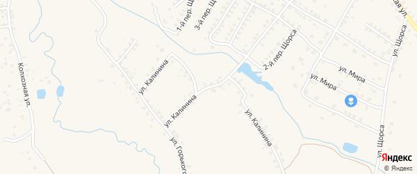Улица Калинина на карте Мглина с номерами домов