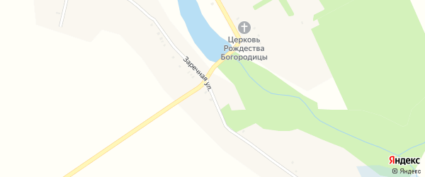 Заречная улица на карте села Пантусова с номерами домов