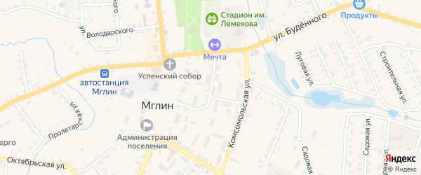 2-й Первомайский на карте Мглина с номерами домов