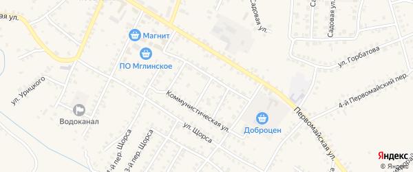 Улица Свердлова на карте Мглина с номерами домов