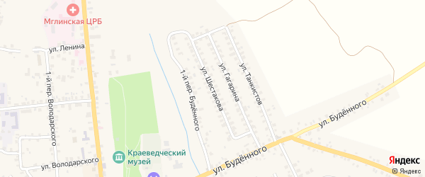 Улица Шестакова на карте Мглина с номерами домов