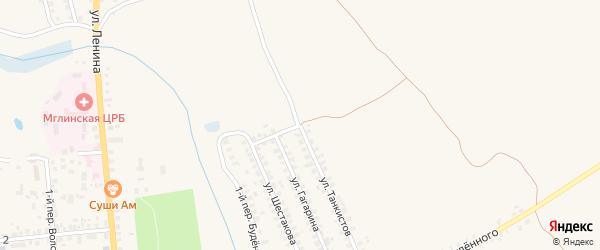 Улица Танкистов на карте Мглина с номерами домов