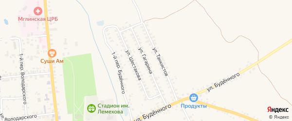 Улица Гагарина на карте Мглина с номерами домов