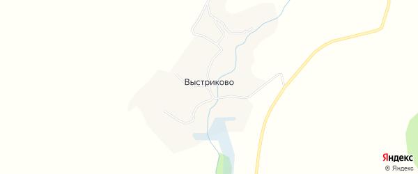 Карта деревни Выстриково в Брянской области с улицами и номерами домов