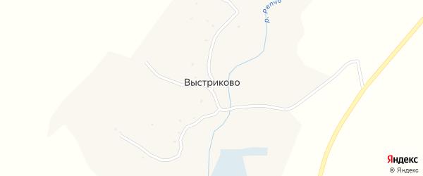 Садовая улица на карте деревни Выстриково с номерами домов