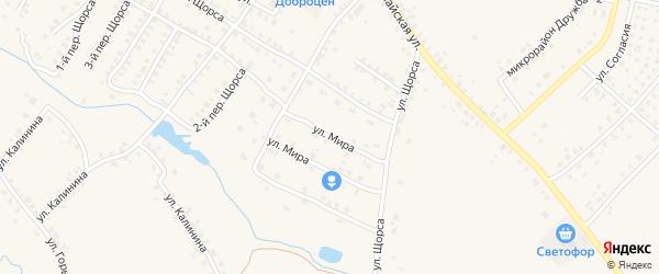 Улица Мира на карте Мглина с номерами домов