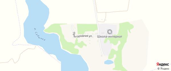 Пригородная улица на карте Мглина с номерами домов