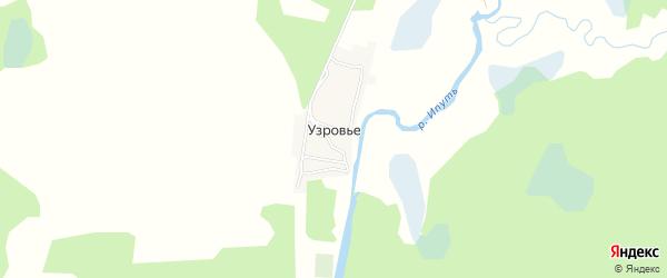 Карта поселка Узровья в Брянской области с улицами и номерами домов