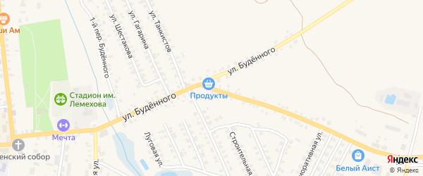 Улица Буденного на карте Мглина с номерами домов