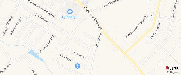 5-й Первомайский на карте Мглина с номерами домов