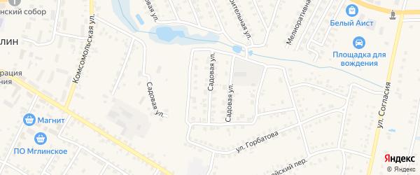 Садовая улица на карте Мглина с номерами домов