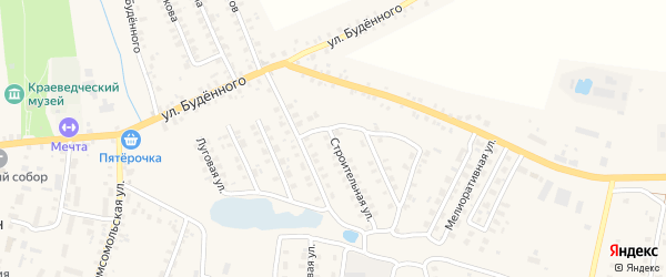 Строительная улица на карте Мглина с номерами домов