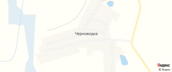 Заречная улица на карте деревни Черноводки с номерами домов