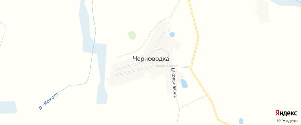 Карта деревни Черноводки в Брянской области с улицами и номерами домов